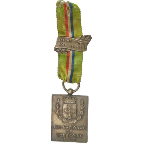 France, Tir National de Tourcoing, Maitre Tireur 200 Mètres, Medal, 1925, Very