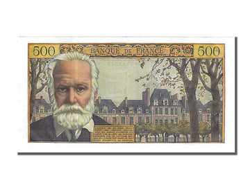 Banknote, France, 500 Francs, 1955-1959 Overprinted with ''Nouveaux Francs''