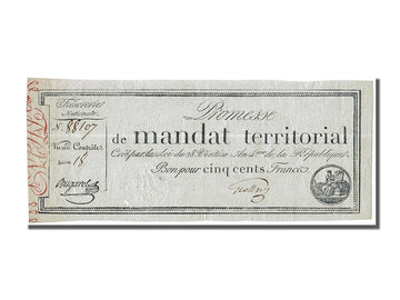 Banknote, France, 500 Francs, 1796, Bugarel, EF(40-45), KM:A86b, Lafaurie:203