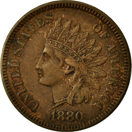 Coin, United States, Indian Head Cent, 1880, Philadelphia, AU(50-53)