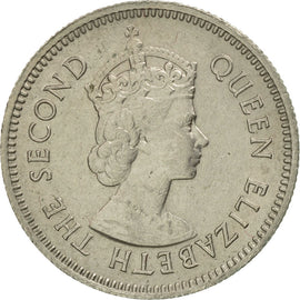 British Honduras, Elizabeth II, 10 Cents, 1961, MS(60-62), Copper-nickel, KM:32