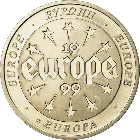 Greece, Medal, L'Europe, Politics, Society, War, 1999, MS(63), Copper-nickel