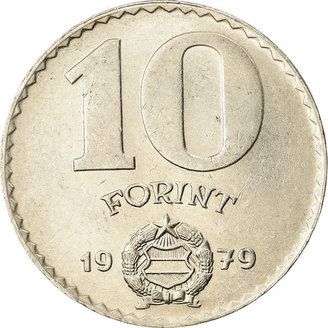 Coin, Hungary, 10 Forint, 1979, EF(40-45), Nickel, KM:595