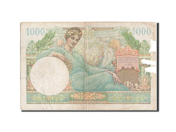 Banknote, France, 1000 Francs, 1947 French Treasury, 1947, F(12-15)