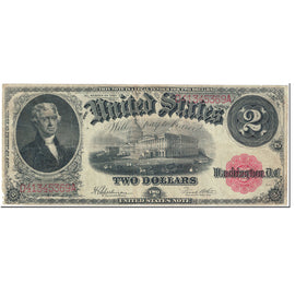 Banknote, United States, Two Dollars, 1917, Undated (1917), KM:119, VF(20-25)