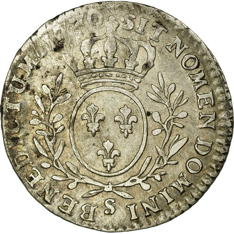 Coin, France, 1/10 Ecu, 1730, Reims, VF(20-25), Silver, Gadoury:291