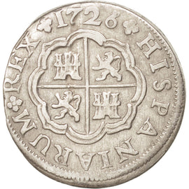 SPAIN, Real, 1726, Seville, KM #306.2, EF(40-45), Silver, 2.69