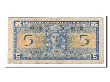 Banknote, United States, 5 Cents, 1954, VF(20-25)