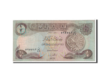 Banknote, Iraq, 1/2 Dinar, 1980, Undated, KM:68a, VF(20-25)