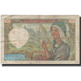 France, 50 Francs, Jacques Coeur, 1941-04-24, F(12-15), Fayette:19.9, KM:93