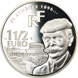 France, 1-1/2 Euro, 2003, BE, MS(65-70), Silver, Gadoury:EU53, KM:1361