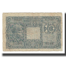 Banknote, Italy, 10 Lire, 1944, 1944-11-23, KM:32c, AG(1-3)