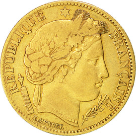Coin, France, Cérès, 10 Francs, 1851, Paris, VF(30-35), Gold, KM:770
