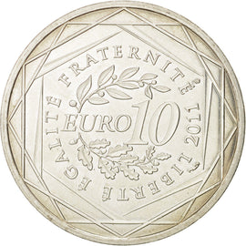 Banknote, France, 10 Euro, 2011, MS(64), Silver, KM:1741
