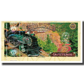 Banknote, Colombia, Tourist Banknote, 15 CAFETEROS THE COFFE RAILROAD COMPANY