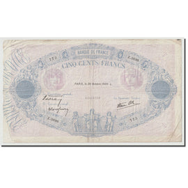 France, 500 Francs, Bleu et Rose, 1939, 1939-10-26, EF(40-45), Fayette:31.45