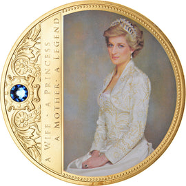 United Kingdom, Medal, Portrait of a Princess, Diana, MS(65-70), Copper Gilt