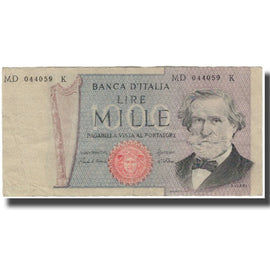 Banknote, Italy, 1000 Lire, KM:101g, VG(8-10)
