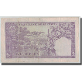 Banknote, Pakistan, 5 Rupees, KM:15, EF(40-45)