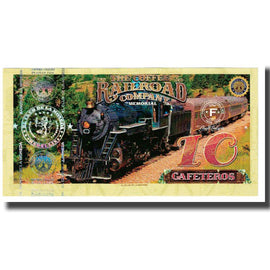Banknote, Colombia, Tourist Banknote, 10 CAFETEROS THE COFFE RAILROAD COMPANY