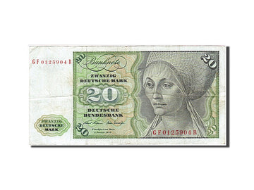 Banknote, GERMANY - FEDERAL REPUBLIC, 20 Deutsche Mark, 1970, 1970-01-02