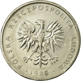 Poland, 10 Zlotych, 1986, EF(40-45), Copper-nickel, KM:152.1