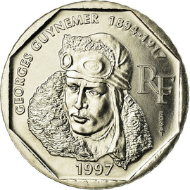 Coin, France, 2 Francs, 1997, MS(65-70), Nickel, Gadoury:550