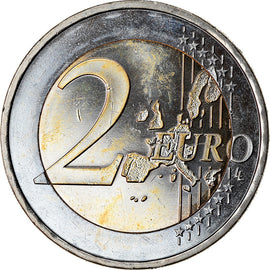 GERMANY - FEDERAL REPUBLIC, 2 Euro, 2002, MS(63), Bi-Metallic, KM:214