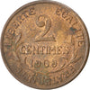 FRANCE, Dupuis, 2 Centimes, 1909, Paris, KM #841, AU(50-53), Bronze, 20.2,...