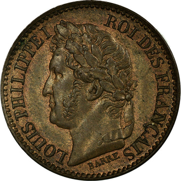 Coin, France, 1 Centime, 1843, Paris, MS(60-62), Bronze, Gadoury:80
