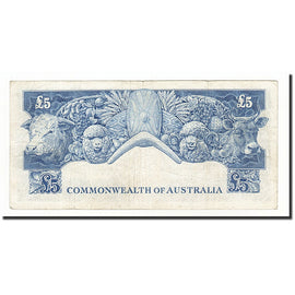 Australia, 5 Pounds, 1960-65, KM:35a, VF(30-35)