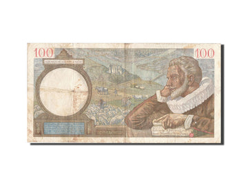 Banknote, France, 100 Francs, 100 F 1939-1942 ''Sully'', 1939, 1939-09-21