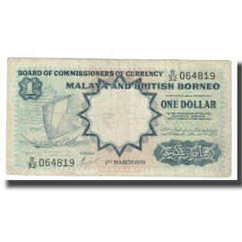 Banknote, Malaya and British Borneo, 1 Dollar, 1959, 1959-03-01, KM:8a