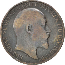 Coin, Great Britain, Edward VII, 1/2 Penny, 1903, F(12-15), Bronze, KM:793.2