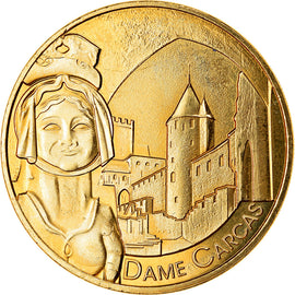 France, Token, Carcassonne - Dame Carcas, 2019, MDP, MS(63), Cupro-nickel