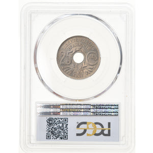 Coin, France, Lindauer, 25 Centimes, 1917, PCGS, MS66, MS(65-70), Copper-nickel
