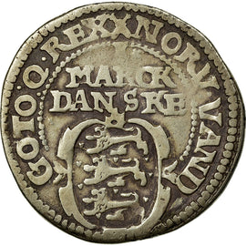 Coin, Denmark, Christian IV, Mark, 1618, VF(20-25), Silver, KM:52