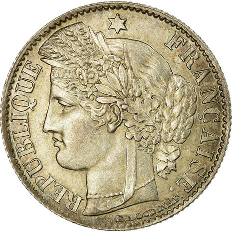 Coin, France, Cérès, 50 Centimes, 1871, Bordeaux, AU(55-58), Silver, KM:834.2