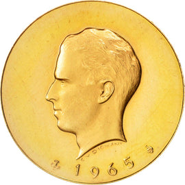 Belgium, Medal, Millenium of Minting in Brussels, History, 1965, MS(64), Gold