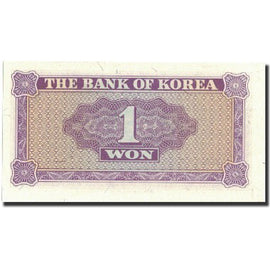 Banknote, South Korea, 1 Won, Undated (1962), Undated, KM:30a, UNC(65-70)