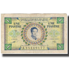 Banknote, FRENCH INDO-CHINA, 1 Piastre = 1 Dong, KM:104, EF(40-45)