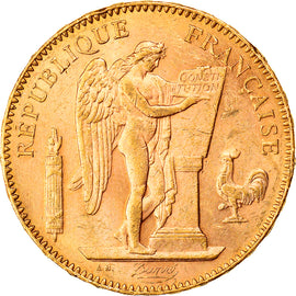 Coin, France, Génie, 50 Francs, 1904, Paris, AU(55-58), Gold, KM:831