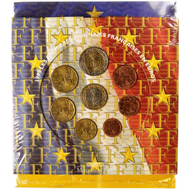FRANCE, 1 Cent to 2 Euro, 1999, MS(65-70), 0.00