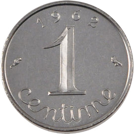 Coin, France, Centime, 1962, MS(65-70), Chrome-Steel, KM:P341, Gadoury:91p