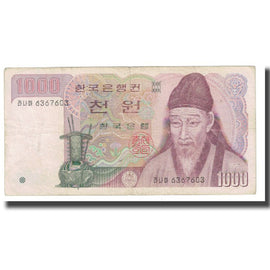 Banknote, South Korea, 1000 Won, KM:47, VF(20-25)