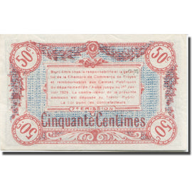 France, Troyes, 50 Centimes, Chambre de Commerce, UNC(63)