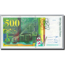 Banknote, France, 500 Francs, 1994, Undated (1994), UNC(63), Fayette:76.1