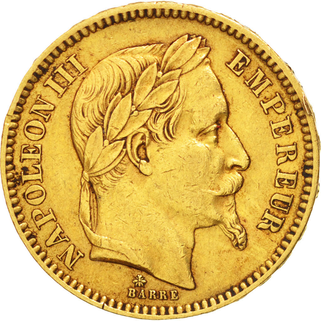France, Napoleon III, 20 Francs, 1862, Paris, EF(40-45), Gold, KM:801.1