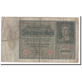 Banknote, Germany, 10,000 Mark, 1922, 1922-01-19, KM:70, VF(30-35)