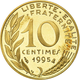 Coin, France, Marianne, 10 Centimes, 1995, Paris, BE, MS(65-70), KM 929